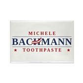 Funny Bachmann Toothpaste Rectangle Magnet