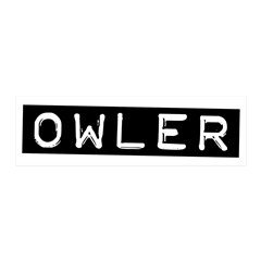 Owler Label 20x6 Wall Decal