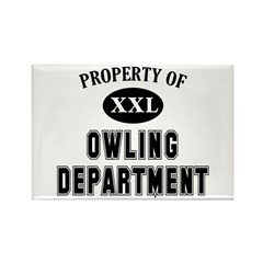 Property of Owling Dept Rectangle Magnet