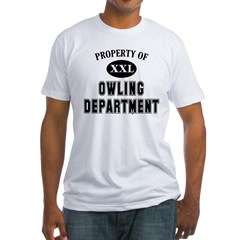 Property of Owling Dept Fitted T-Shirt