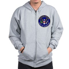 Official Owling Dept Seal Zip Hoodie