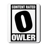 Content Rated Owler Mousepad