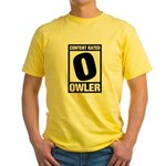 Content Rated Owler Yellow T-Shirt