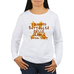 Ivrea Battle Of The Oranges Souvenirs Gifts Tees Women's Long Sleeve T-Shirt