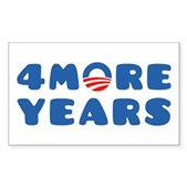 4 More Years Sticker (Rectangle)