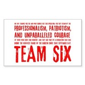 Team Six Quote Sticker (Rectangle)
