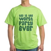 Worst Party Ever Green T-Shirt