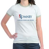 Anti-Romney Corporations Jr. Ringer T-Shirt