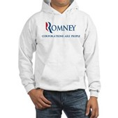Anti-Romney Corporations Hooded Sweatshirt