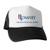 Anti-Romney Corporations Trucker Hat
