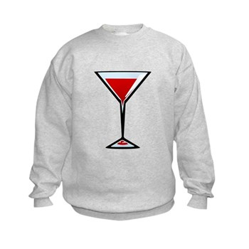Vampire Martini Kids Sweatshirt