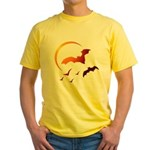Flying Vampire Bats Yellow T-Shirt