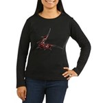 Vampire Bat 1 Women's Long Sleeve Dark T-Shirt