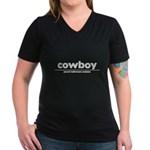 generic cowboy costume Women's V-Neck Dark T-Shirt