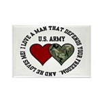 US Army - I love a man that.. Rectangle Magnet (10
