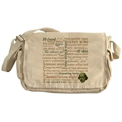 Shakespeare Insults T-shirts & Gifts Messenger Bag
