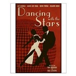 Distressed Retro DWTS Poster Small Poster