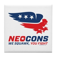 Neocon Chickenhawk Logo Tile Coaster