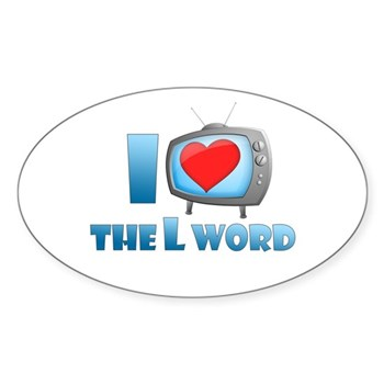 I Heart The L Word Oval Sticker (Oval)