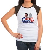 Anti-Romney Shadow Women's Cap Sleeve T-Shirt