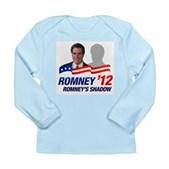 Anti-Romney Shadow Long Sleeve Infant T-Shirt