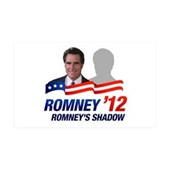 Anti-Romney Shadow 35x21 Wall Decal