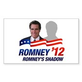 Anti-Romney Shadow Sticker (Rectangle)