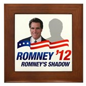 Anti-Romney Shadow Framed Tile