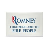 Anti-Romney: Fire People Rectangle Magnet