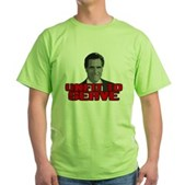 Anti-Romney: Unfit To Serve Green T-Shirt