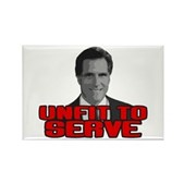 Anti-Romney: Unfit To Serve Rectangle Magnet