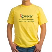 Anti-Romney: Very Poor Yellow T-Shirt