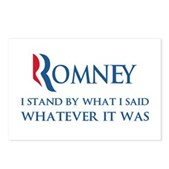 Anti-Romney: Whatever I Said Postcards (Package of