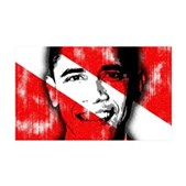 Divers for Obama 35x21 Wall Decal