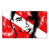 Divers for Obama Sticker (Rectangle)