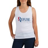 Anti-Romney Refuse Women's Tank Top