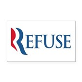 Anti-Romney Refuse Rectangle Car Magnet