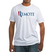 Anti-Romney Remote Fitted T-Shirt