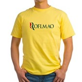 Anti-Romney ROFLMAO Yellow T-Shirt