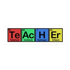 Teacher made of Elements colors 20x6 Wall Decal