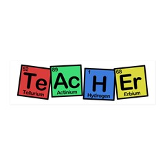 Teacher made of Elements whimsy 36x11 Wall Decal