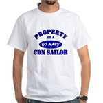 Property of a Canadian Sailor White T-Shirt
