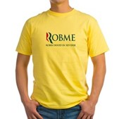 Anti-Romney Rob Me Robin Hood Yellow T-Shirt