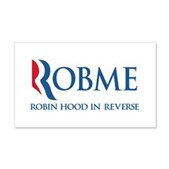 Anti-Romney Rob Me Robin Hood 20x12 Wall Decal