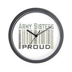 Military Army Sisters Proud Wall Clock
