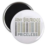Army Girlfriends Priceless Barcode Magnet