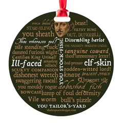 Shakespeare Insults T-shirts & Gifts Round Ornament