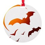Flying Vampire Bats Round Ornament