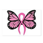 Breast Cancer Butterfly Postcards (Package of 8)