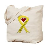 Keep My Daughter Safe Yellow Ribbon Tote Bag